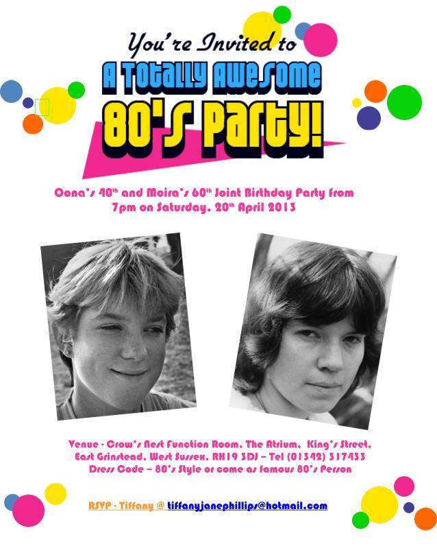 80s Party Invitation